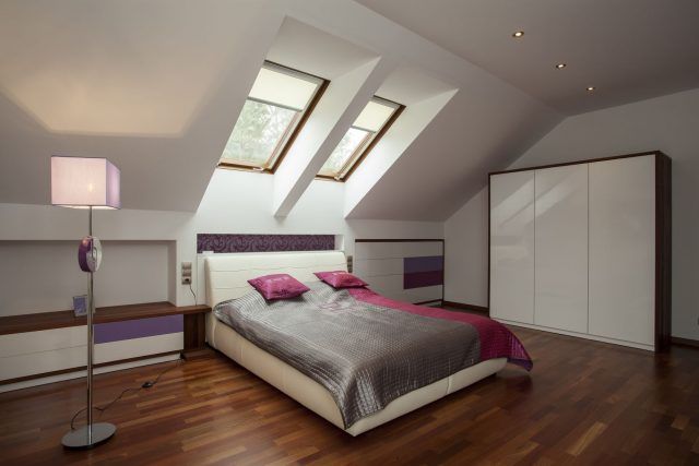 Bright Bedroom with Wooden Floor